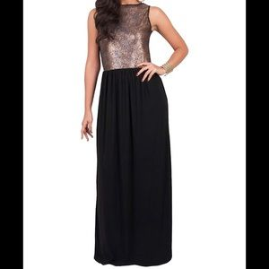 🎄❤️ Gorgeous Black and Gold Maxi ❤️🎄